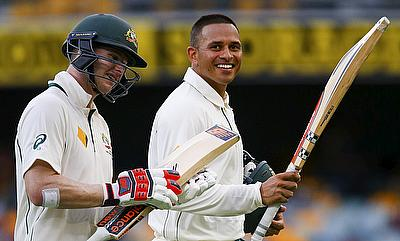 Steven Smith (left) backs Usman Khawaja to come good in Bangladesh