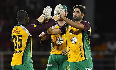 Sohail Tanvir (right) picked three wickets for Guyana