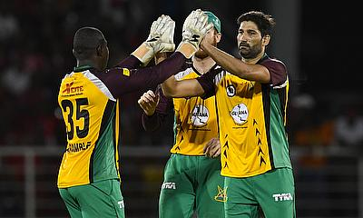 Sohail Tanvir (right) came up with a man of the match performance for Guyana