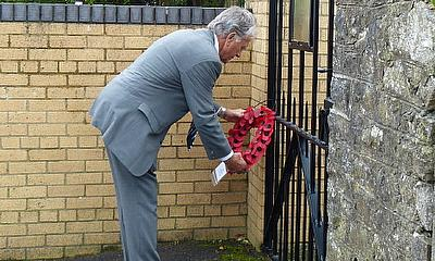 Formal re-opening of Fred Dunn Memorial Gates at Cowbridge Athletic Club