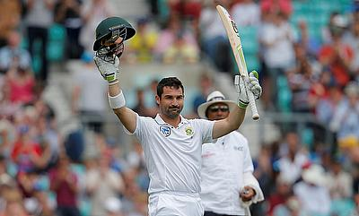 Dean Elgar scored his second consecutive century in the series