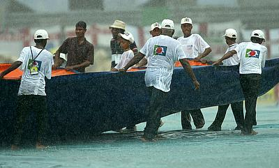 Rain played spoilsport in Dhaka