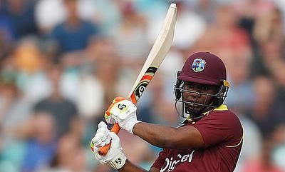 Evin Lewis continued his good form in the tournament with yet another terrific knock