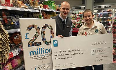 Ashburton Cricket Club Thanks Co-Op for Contribution