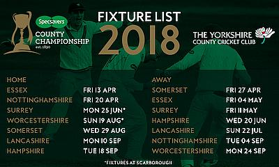 Yorkshire To Open Against Champions Essex