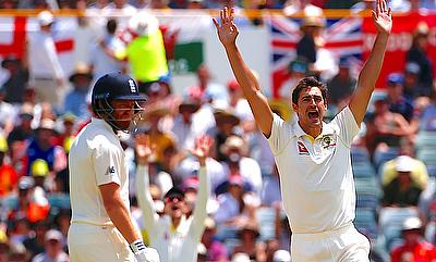 Mitchell Starc (right) already has 19 wickets from three Tests
