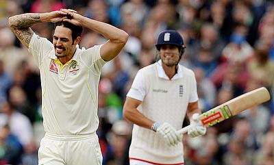 Mitchell Johnson was England's nemesis when they last toured Australia