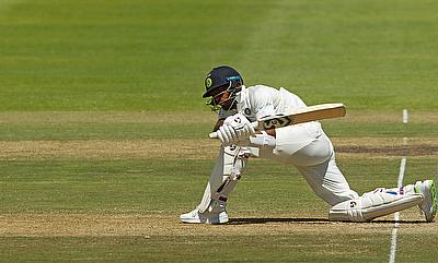 India's Hardik Pandya in action on day two of the Cape Town Test