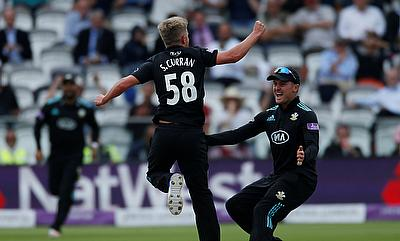 Sam Curran (centre) has received a call-up to England squad