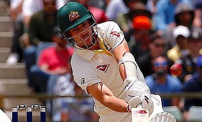 Pat Cummins scored an unbeaten fifty for Australia