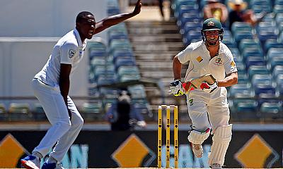 Kagiso Rabada (left) will be hoping to repeat his performance against Australia