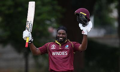 Chris Gayle looked at his attacking best against UAE