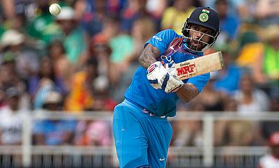 Shikhar Dhawan scored his second half-century in the series
