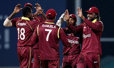 West Indies Celebrating