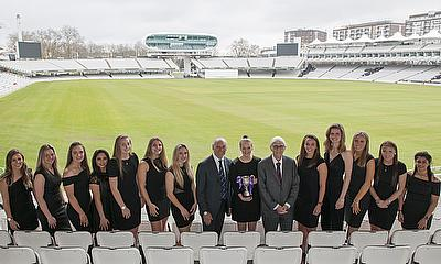 Women's One-Day Cup winners Lancashire Awarded The Lord's Taverners ECB Trophy by Sir Michael Parkinson and Colin Graves