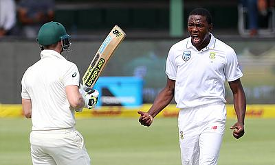 Kagiso Rabada's (right) has been cleared to play the final two Tests against Australia