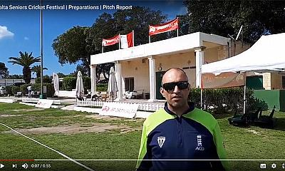 Malta Seniors Cricket Festival - Preparations  and Pitch Report