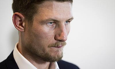 Cameron Bancroft during a press conference in Perth