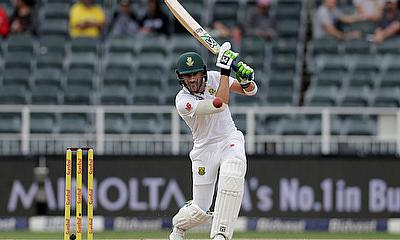 South Africa's Faf du Plessis in action