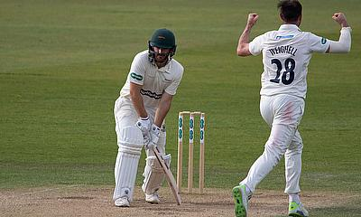 Durham beat Leicestershire after following -on