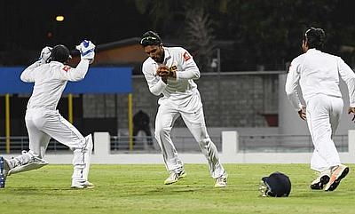 WINDIES v Sri Lanka fourth day of the Test at Kensington Oval in Bridgetown Barbados