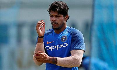 Umesh Yadav speaks with the media after the second Ireland v India 2nd T20I