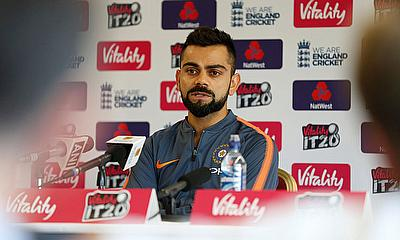 India Captain Virat Kohli talks to the Media prior to T20I against England at Old Trafford