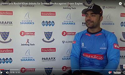 Afghanistan's Rashid Khan débuts for Sussex Sharks against Essex Eagles