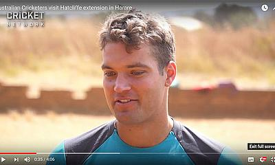 Australian Cricketers visit Hatcliffe extension in Harare