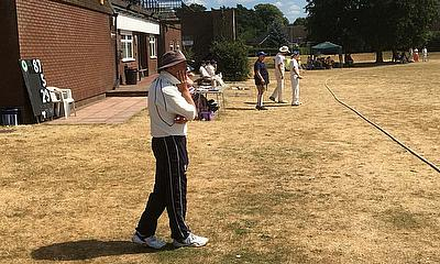 Head Coach / Legend Jonathan Caldecott looks on as the super 9s quality for the semi-finals at Market Drayton CC.