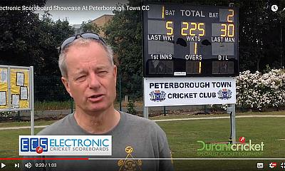 Durant Cricket installs new Electronic Scoreboard at Peterborough Town CC