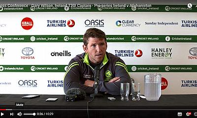 Press Conference - Gary Wilson Ireland T20I Captain - Pre-series Ireland v Afghanistan