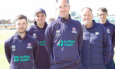 Rigby Taylor is a team player at Northamptonshire County Cricket Club