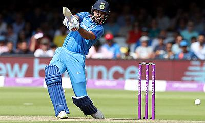Shikhar Dhawan in action