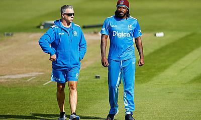 West Indies coach Stuart Law and Chris Gayle