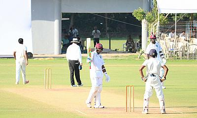 Sunil Ambris Century secures draw for Windies against BCCI XI