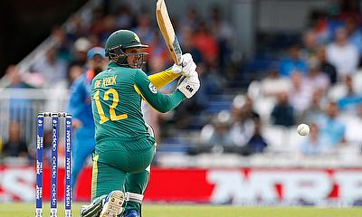 South Africa's Quinton De Kock in action Action