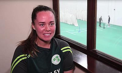 Laura Delany During Their Final Preparations Before the ICC WWT20