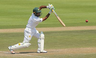 Asad Shafiq in action