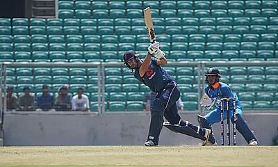 Lewis Gregory hits out against India A in Trivandrum