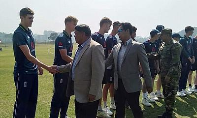 The Young Lions before their T20 against Bangladesh