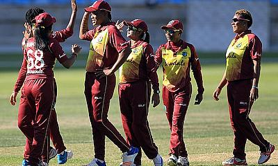 WINDIES Women congratulate each other after 1st ODI win over Pakistan women