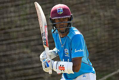 Captain Kraigg Brathwaite batting in the nets