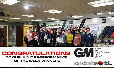 Cricket World GM Junior Performance of the Week Winners