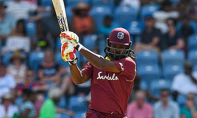 Chris Gayle during his superb 162 off 97 balls.