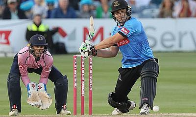 Luke Wright bats for Sussex Sharks in last year's Vitality Blast