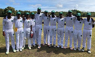 Guyana pose for a team picture