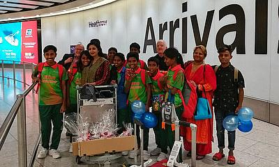 Bangladesh Street Child Cricket Team Arrive in London