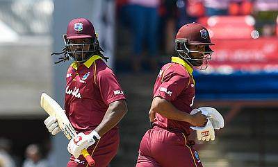 Shai Hope and Chris Gayle