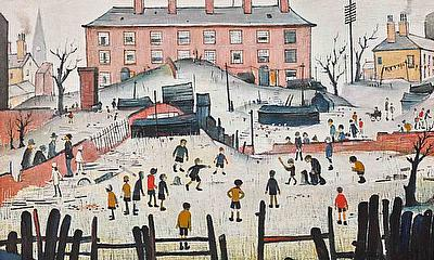 Rare Lowry Painting of Cricket Match to Appear at Auction This Summer